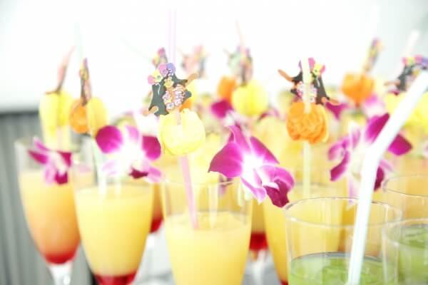 新潟市結婚式場 ブレストン ハワイ アロハ リゾート オリジナルカクテル ウェルカムドリンク ハネムーン
