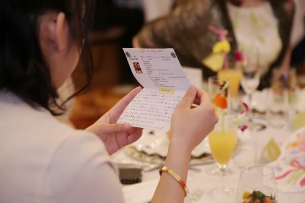 新潟市結婚式場 ブレストン サプライズ 感謝 メッセージ 演出