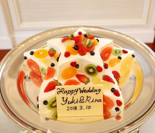 新潟市結婚式場 ブレストン 星 スター ウェディング キラキラ スターツリー ウェディングケーキ 七夕