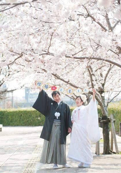 新潟市結婚式場 ブレストン 桜 桜ウェディング ウェディングケーキ 前撮り お花見 デザートビュッフェ 演出