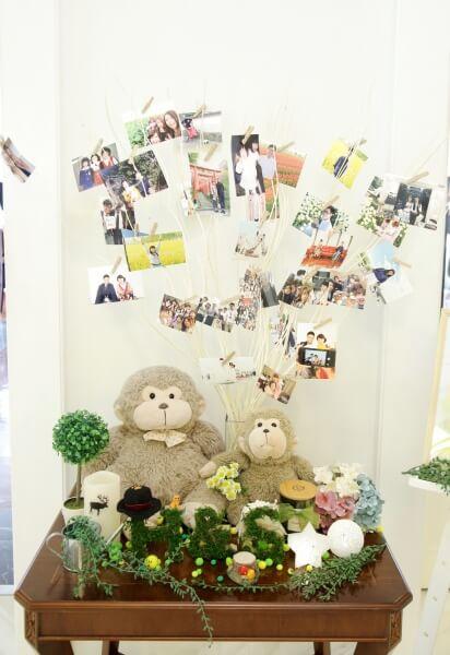 新潟市結婚式場 ブレストン ナチュラル 森 どうぶつ 動物 自然 ウェルカムコーナー インスタントカメラ ジェンガ
