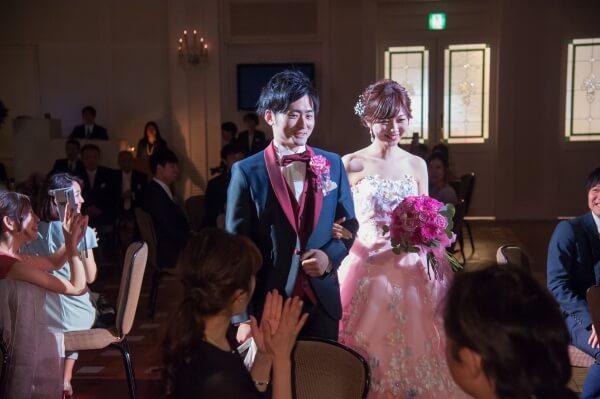 新潟市結婚式場 ブレストン ゴージャス ピンク 大人 コーディネート 演出 サプライズ 余興 フラッシュモブ
