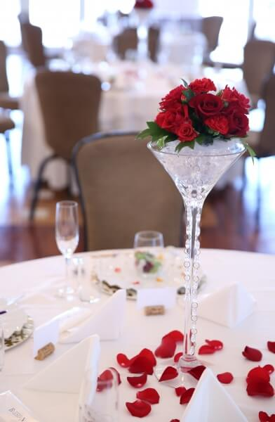 新潟市結婚式場 ブレストン バラ フラワー コーディネート テーブルコーディネート ブーケ