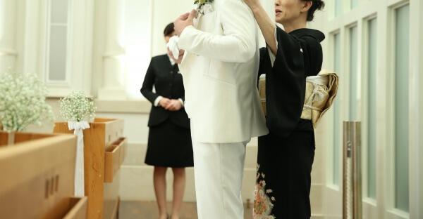 新潟市結婚式場 ブレストン ジャケットセレモニー チャペル式 パパママウェディング パパママ婚 マタニティ