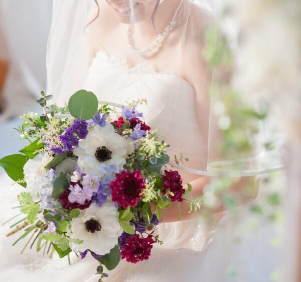 新潟市結婚式場 ブレストン ブーケ ウェディングブーケ アネモネ ナチュラル