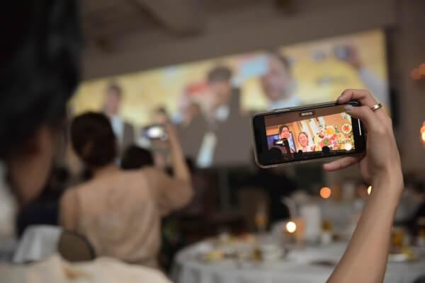 新潟市結婚式場 ブレストン 映像 エンドロール ダイジェストエンドロール スクリーン