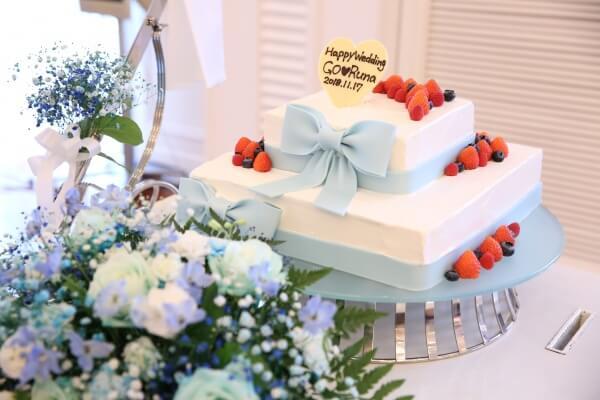 新潟市結婚式場 ブレストン テーマカラーウェディング ブルー カラードレス ウェディングドレス 衣裳 ウェディングブーケ ウェルカムドリンク 乾杯酒 ウェディングケーキ カラードリップケーキ