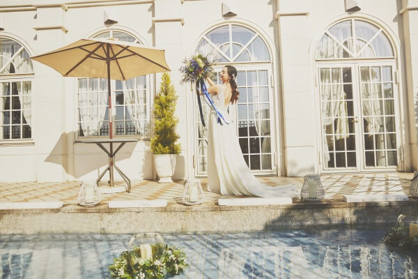 新潟市結婚式場 ブレストン フラワーコーディネート テーブルコーディネート テラス ブーケ ウェルカムパーティ