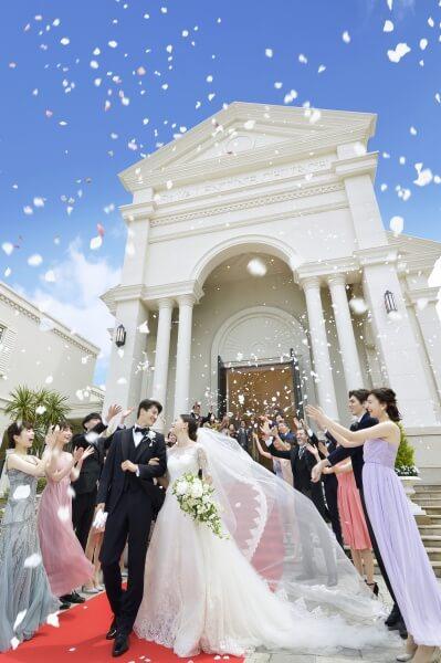新潟市結婚式場 ブレストン アフターセレモニー フラワーシャワー
