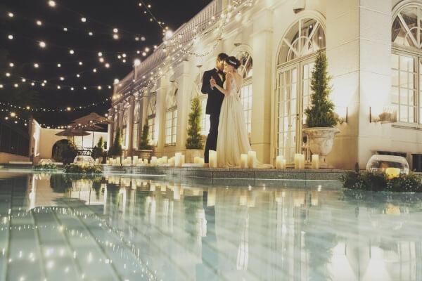 新潟市結婚式場 ブレストン 夜景 ナイトウェディング イルミネーション ロケーション キャンドル